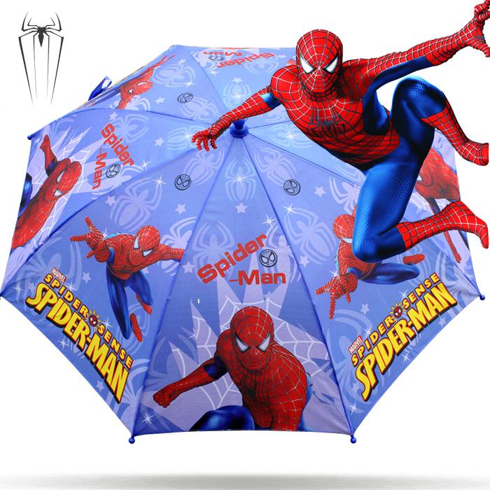 卡通蜘蛛侠雨伞小学生男童长柄伞晴雨伞米奇多啦A梦儿童伞遮阳伞