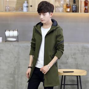 【今日下单119元】秋季新款中长款男风衣韩版潮流夹克男式外套