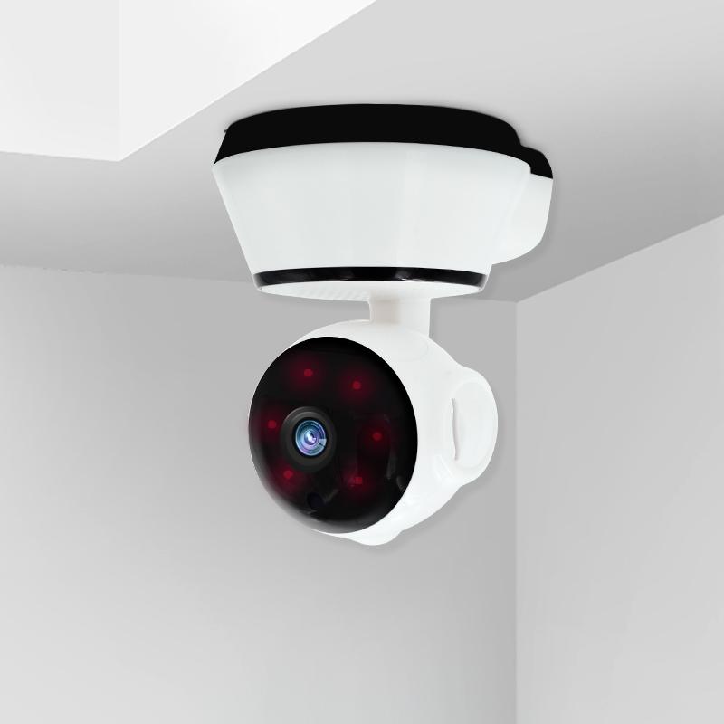 الأسرة في الهواء الطلق مصغرة مشاهدة الهاتف متجر من السرقة الاتصال في اتجاهين صوت الداخل رصد كاميرات المراقبة