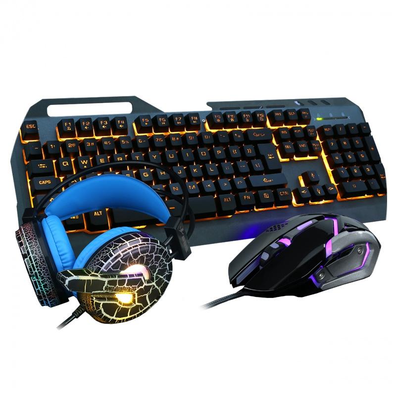 공식 플래그숍에 와서 이어폰 키 쥐 스리피스 컴퓨터, 마우스, 키보드 촉감이 게임 가정용 로봇 목축업 세트