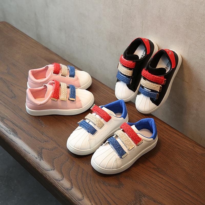 清仓春秋新款儿童运动鞋男童软底板鞋女童休闲小白鞋中大童贝壳鞋