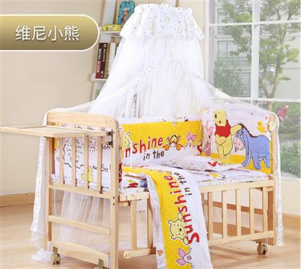 ベビーベッド木造無漆赤ちゃんベッドゆりかごベッドの多機能の環境保護児童新生児ベッド通気いい子