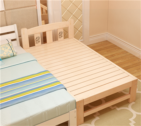 Loose wooden bedstead widened wood bed bed bed children widened double stitching lengthen bedside bed