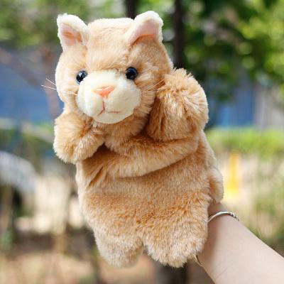αρχάριος ζευγάρια στο παιχνίδι για τα παιδιά τη γάτα και το ποντίκι μάπετ ωραίο ζώο γάντια γονέα αλληλεπίδραση δώρο