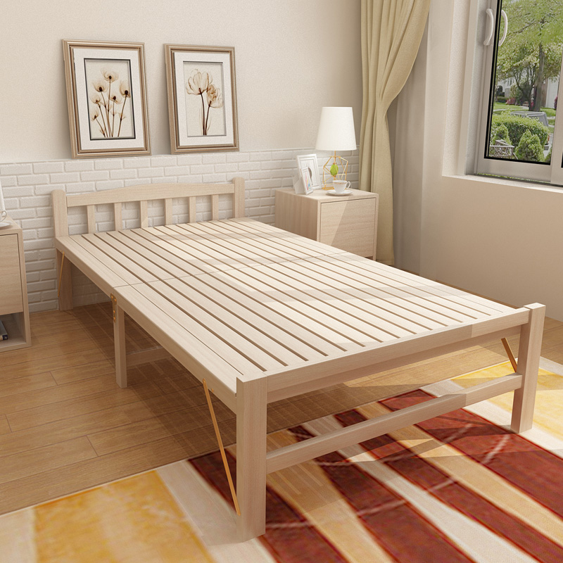 Move 1.2 meter single bed double bed home office lunch nap to accompany the bed folding bed