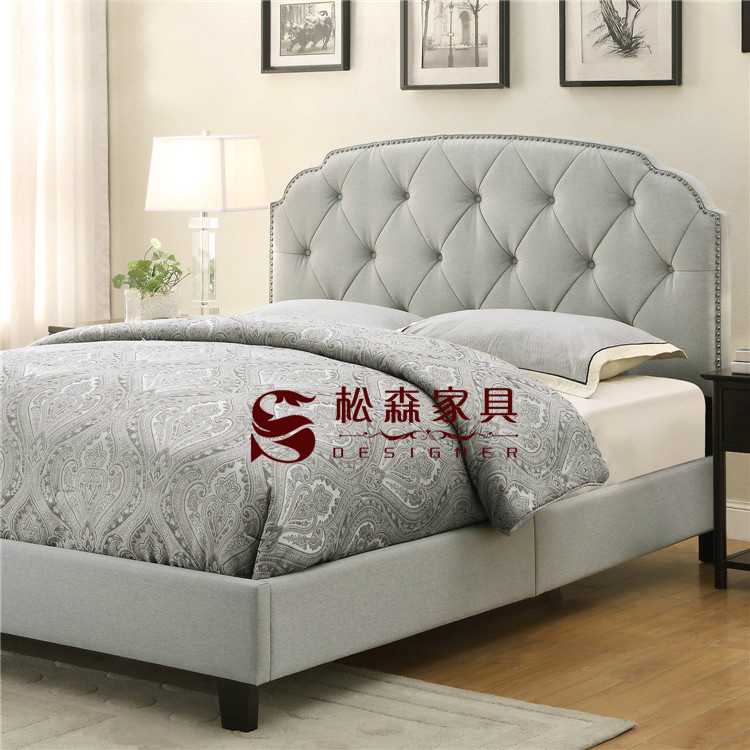 American country soft bed linen Jane pulled double 1.51.8 meters large-sized apartment fabric bed bed for children
