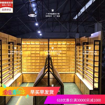定制             精品烤漆眼镜店柜展示柜白橡实木储藏陈列柜中岛眼镜货架工厂定制