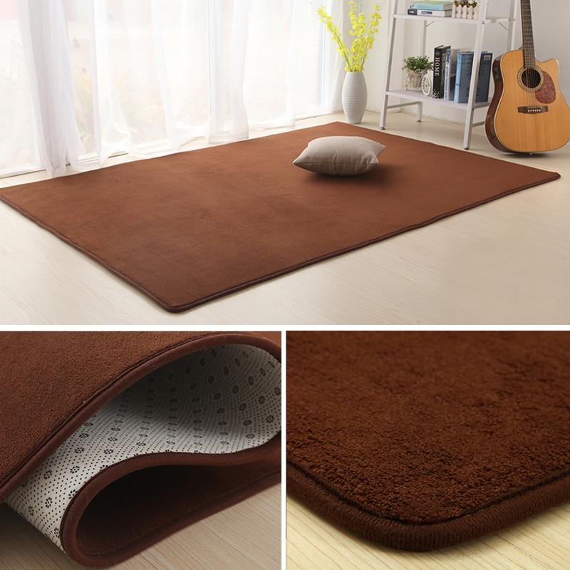 Bathroom mat tatami coral fleece coral velvet carpet absorbent European modern sofa in the living room carpet carpet Hall