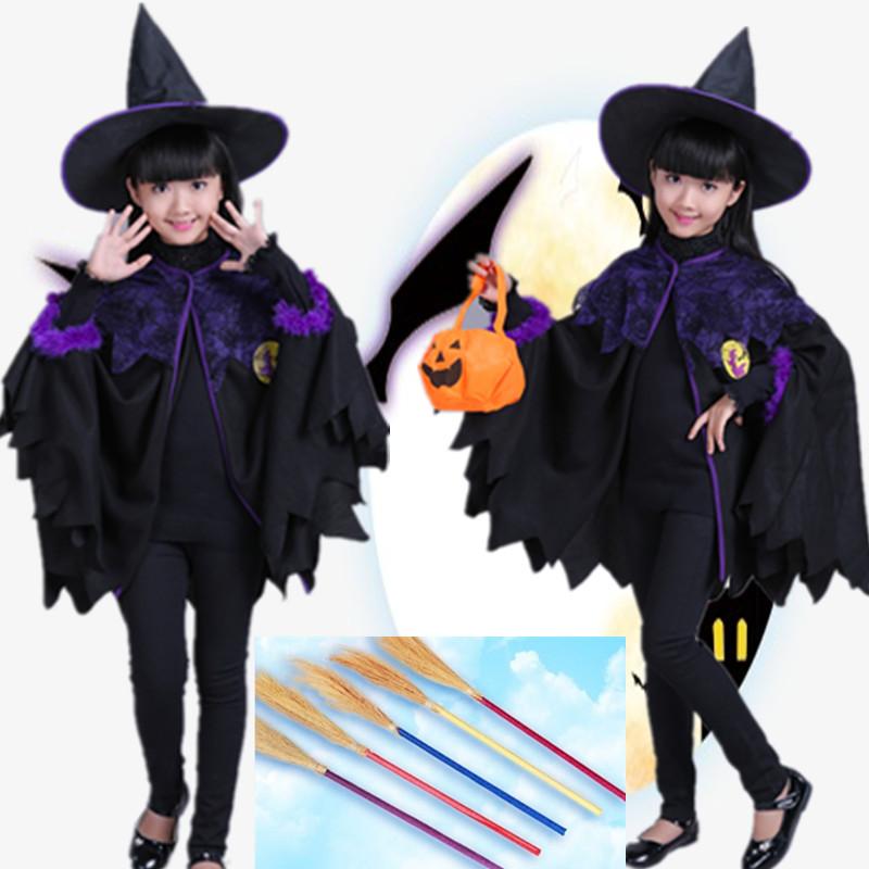万圣节儿童服装女童吸血鬼蝙蝠cosplay披风女巫服南瓜服化妆舞会