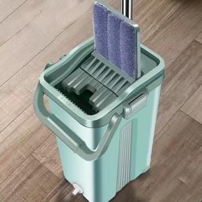 免手洗拖把家用一拖净干湿两用拖布懒人挤水地拖平板墩布拖地神器
