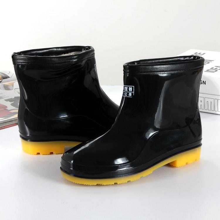 女士雨鞋男士短筒雨靴低帮防滑中筒防水鞋高筒胶鞋厨房鞋加绒套鞋
