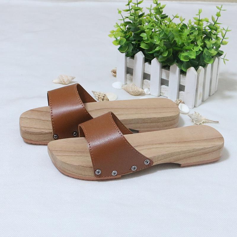 新款 男女款 木拖鞋夏季 居家浴室低跟凉拖鞋 木屐