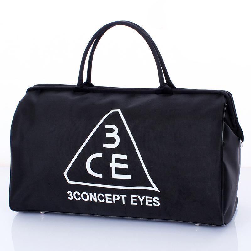 韩国短途折叠无拉杆旅行包大容量男女手提行李包3ce旅行袋健身包