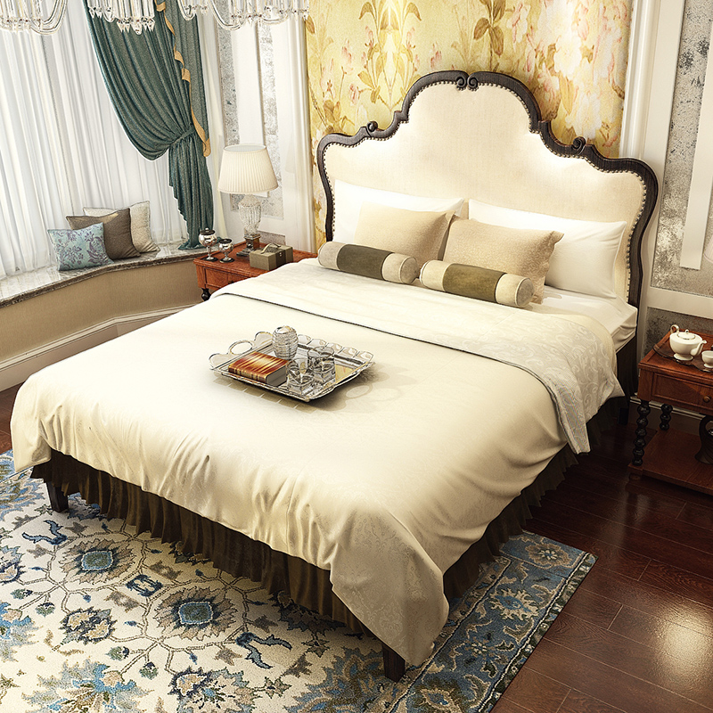Meikailong North European simple solid wood bed ash bed 1.5 meters 1.8 meters on the original wooden soft cloth