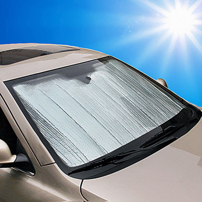 универсальный автомобиль алюминиевой фольги и тени летом седан машине козырька утолщение солнцезащитный козырек теплоизоляции до и после