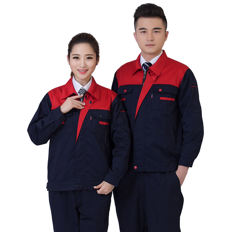 The spring and autumn long sleeved suit men and women work clothes clothing factory auto repair shop workers labor insurance coat custom tooling
