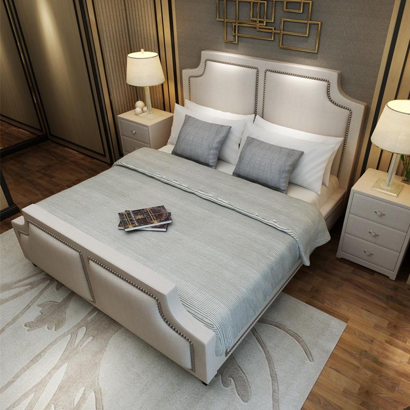 De eenvoud van de moderne klassieke weefsel van kleine eenheden van de nieuwe dubbele zacht bed spot zachte bed
