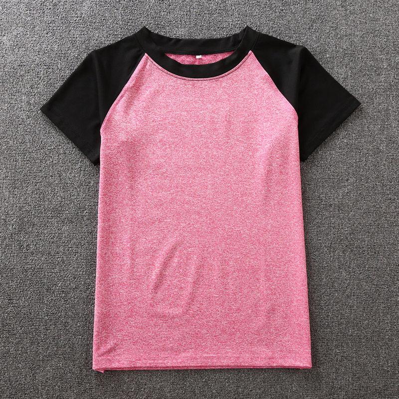 黑玫红色T恤