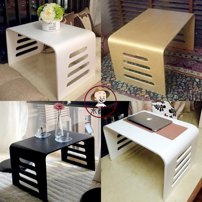 Piaochuang balcony table small tea table table style tatami wood computer desk on bed table for children