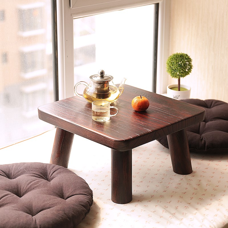 Japanese barbecue table table table tatami wood windows window on the bed a few Kang Table small tea table Paulownia special offer