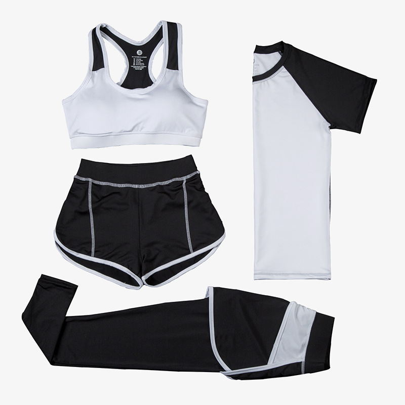 2017 new yoga suits, women's autumn show slim, fitness exercise, four sets of professional sports