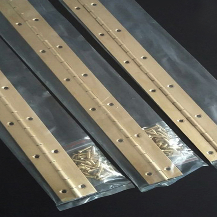 Piano hinge hinges copper material is 1.7 meters long, 1 inch box hinge flap hinge combined page hinges