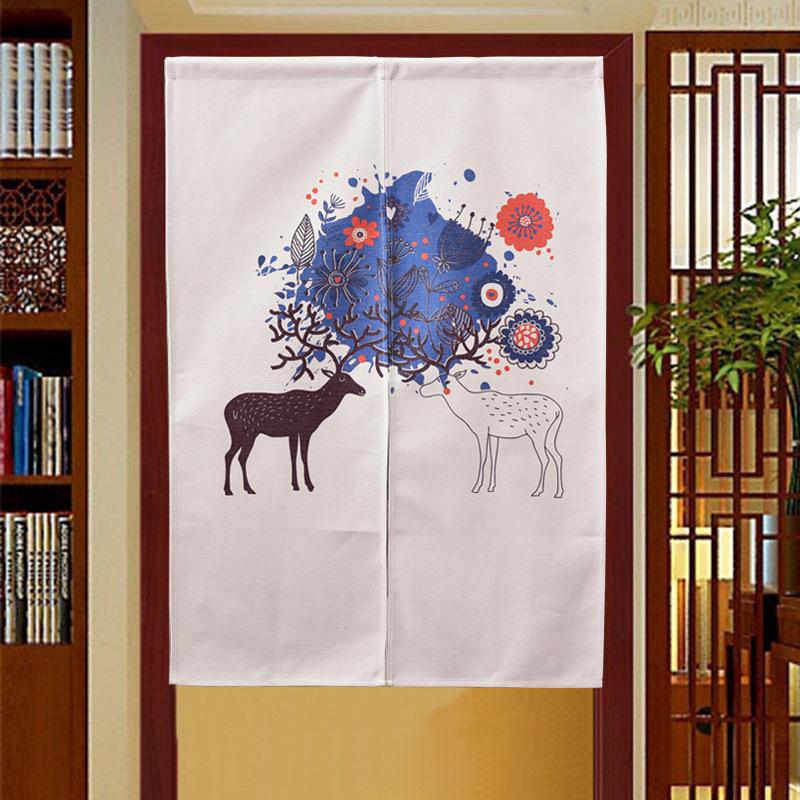 棉麻 布艺 문발 커튼 커튼, 일본식 화장실 만화 칸막이 터가 반 커튼 주방 침실 玄关帘