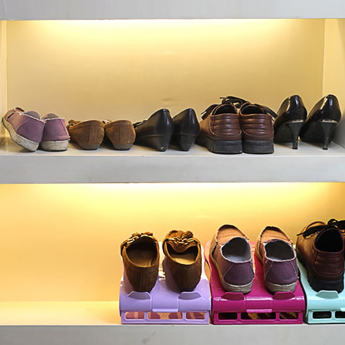 La seconda generazione di semplice doppio Strato in doppia Fila scarpiera scarpiera regolabile in Stereo scarpiera le scarpe di sostegno 2 un Pacchetto di posta