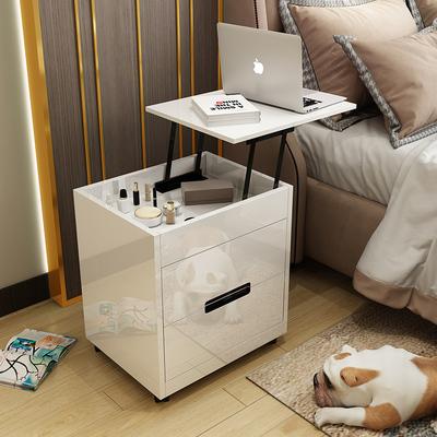 床头柜 简约现代床边小柜子北欧多功能升降床头收纳柜储物柜卧室