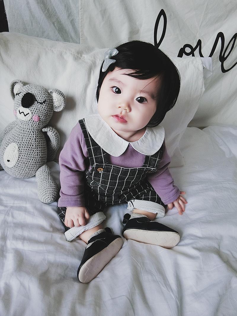 允儿妈2017冬装男女童加厚保暖背带裤可开裆婴儿宝宝连体夹棉长裤