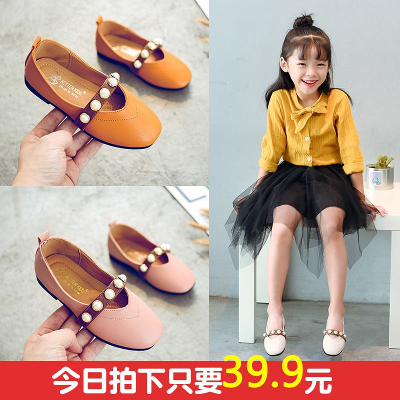 女童小皮鞋2017秋