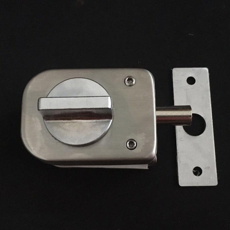 Trinco de porta de vidro SEM moldura de vidro para evitar a Abertura de UMA porta.