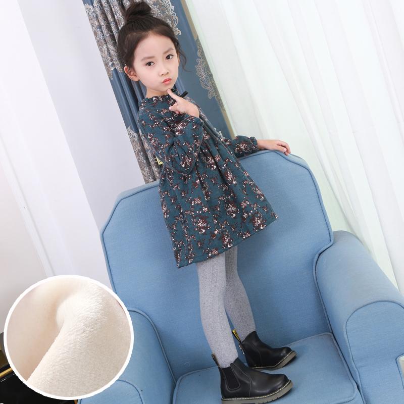 女童秋冬装新款韩版儿童纯棉洋气公主裙子宝宝加厚加绒长袖连衣裙