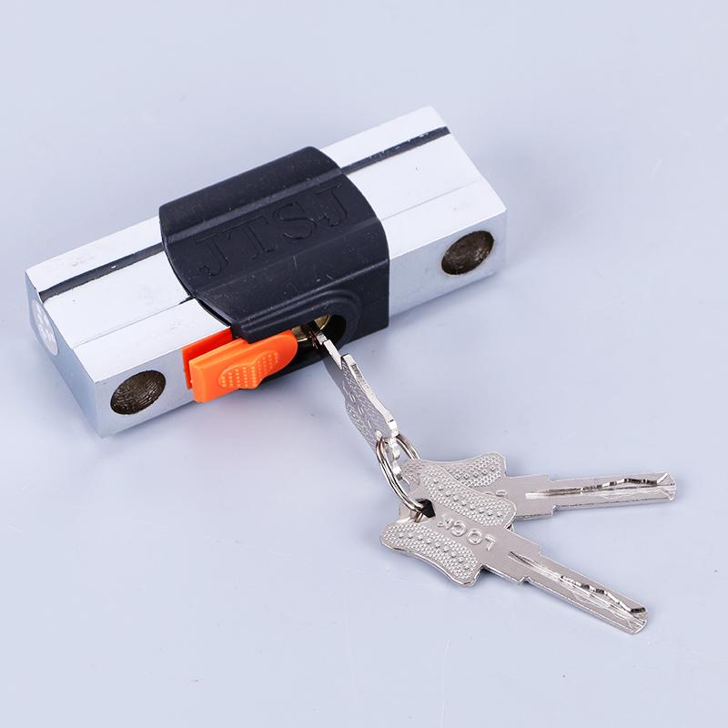Pacote de vidro maçaneta Da porta lock - B - U - lock trava anti - Roubo de bloqueio de porta de Loja, lojas de moto Mais trava