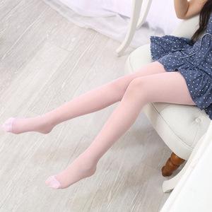 儿童肉色丝袜超薄透肉 儿童肉色连裤袜肤色白色舞蹈袜子打底裤袜