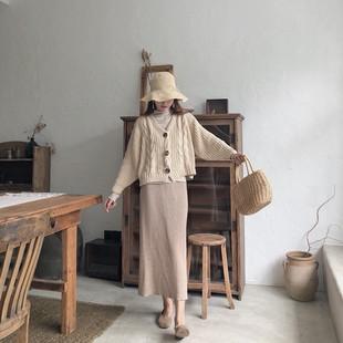 【Dear YN】秋冬新款 温柔风高腰针织包臀裙中长款半身裙