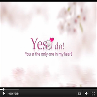 Valentine's Day 520 Proposal marriage lovers love Memorial electronic album wedding video title ppt template