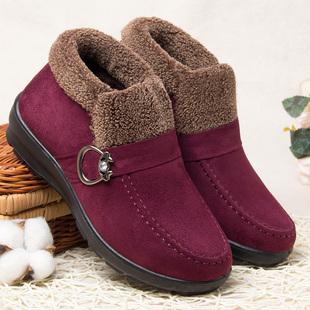 【鞋包】老北京布鞋女棉鞋冬季中老年人妈妈老人加厚中年保暖加绒平底女鞋