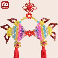 ručně zdobené kuličkami čína uzel ryby materiál domácích dekorací přívěsek tašku diy korálky tkané crafta