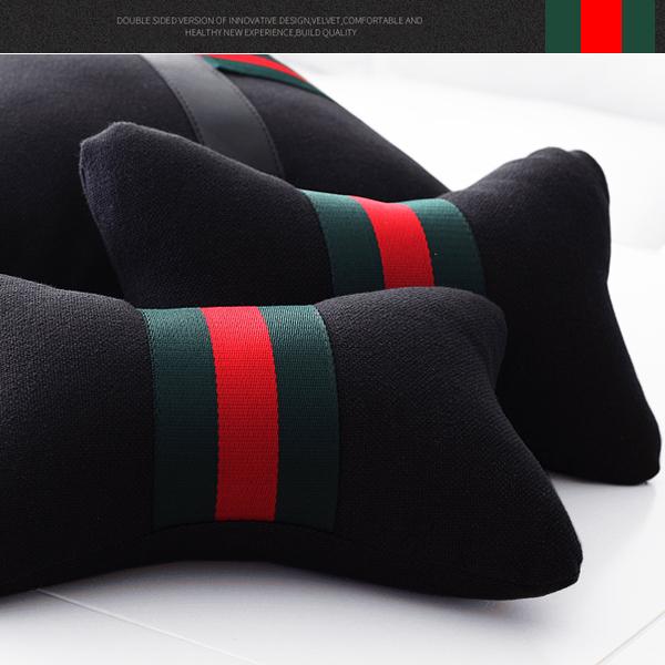 愛程夏麻四季帯芯自動車用ヘッドレスト頚枕抱き枕枕腰枕腰靠垫側室で腰垫