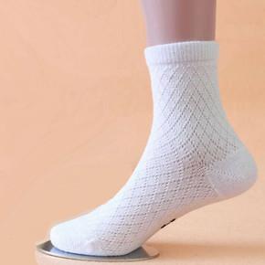 纯棉童袜男女中筒学生袜儿童白色袜子透气底全棉中厚短袜子春夏薄