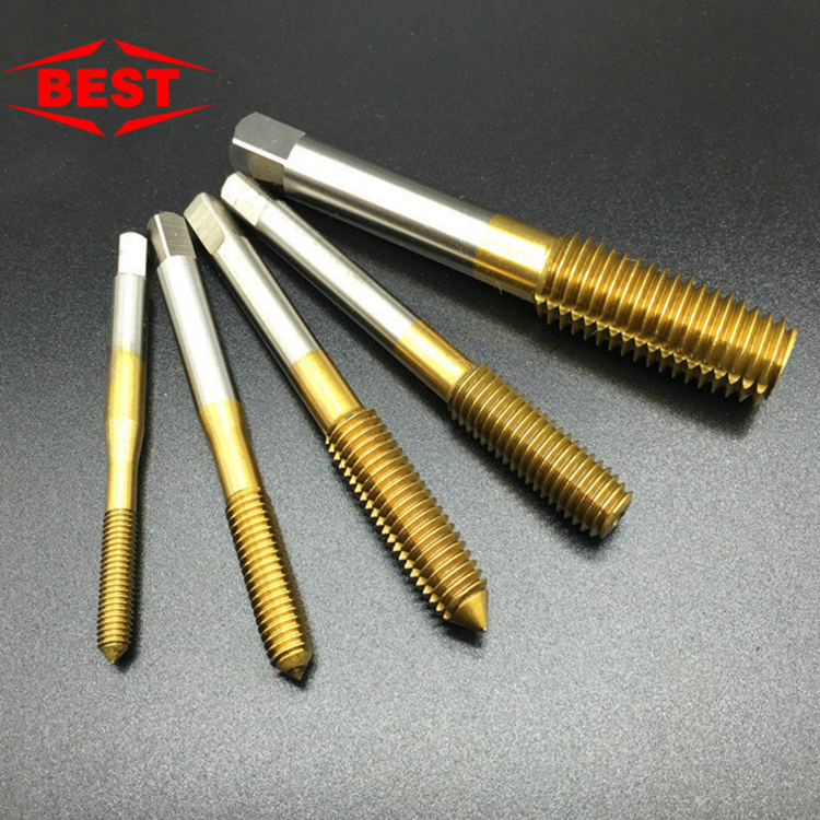 Best yellow Ti extrusion tap no chip machine with a straight groove screw M3-M10 special offer sales promotion