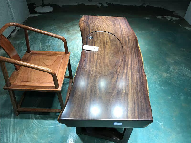 La plaque de bois Ebony grand bureau chef de table à thé thé simple moderne de la table de bureau de meubles de bois