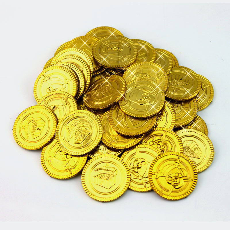 Clipart Illustration of Golden Coins Pirates Booty