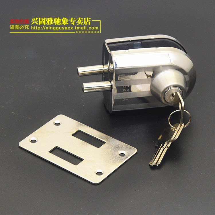 Frameless glass door lock pushpulll single double lock bolt lock