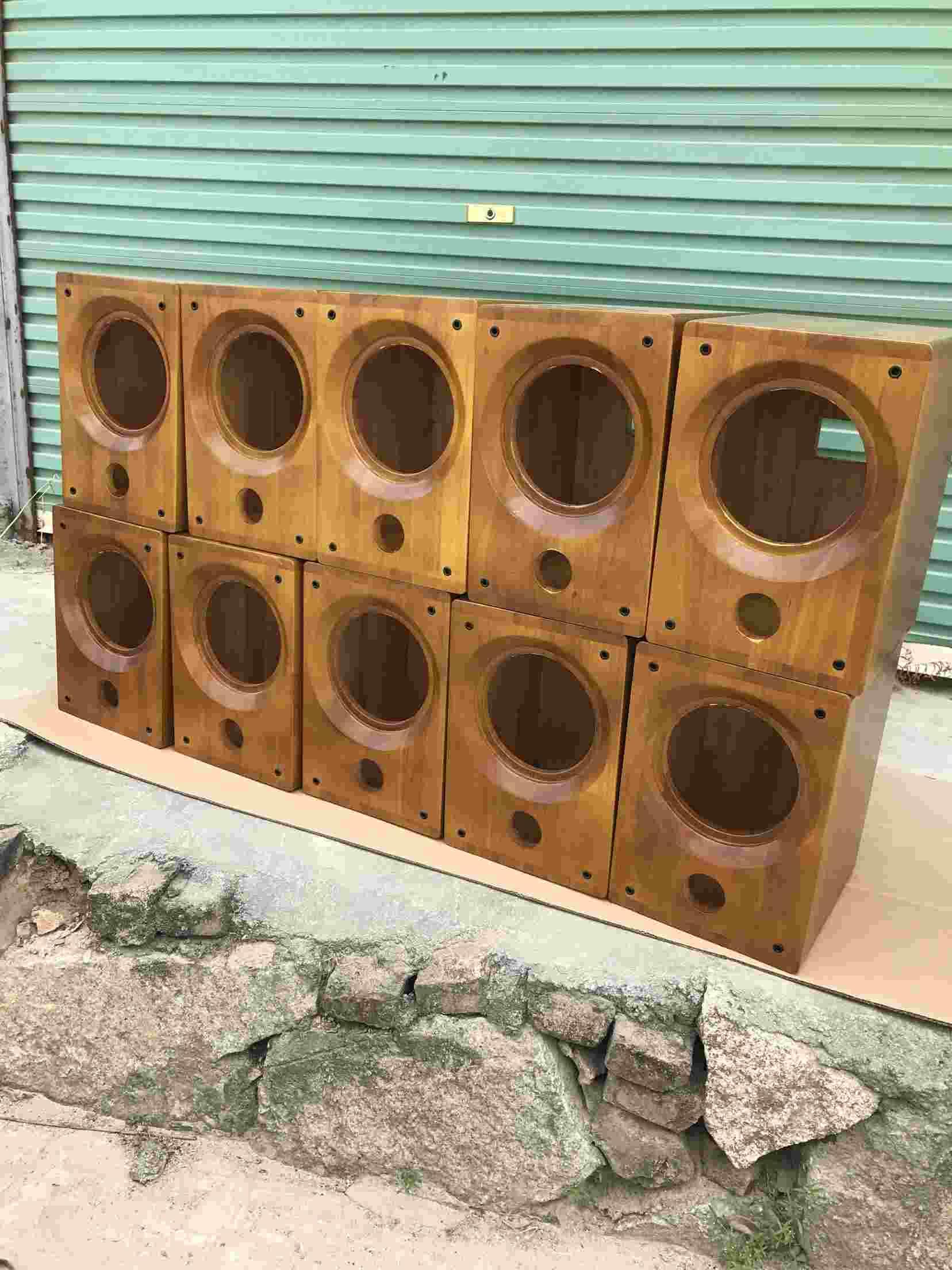 6,5 дюймов 8 дюймов полностью частоты поддержки малых карусель рога рог деревянные полки оратор пустой контейнер коаксиальный горн
