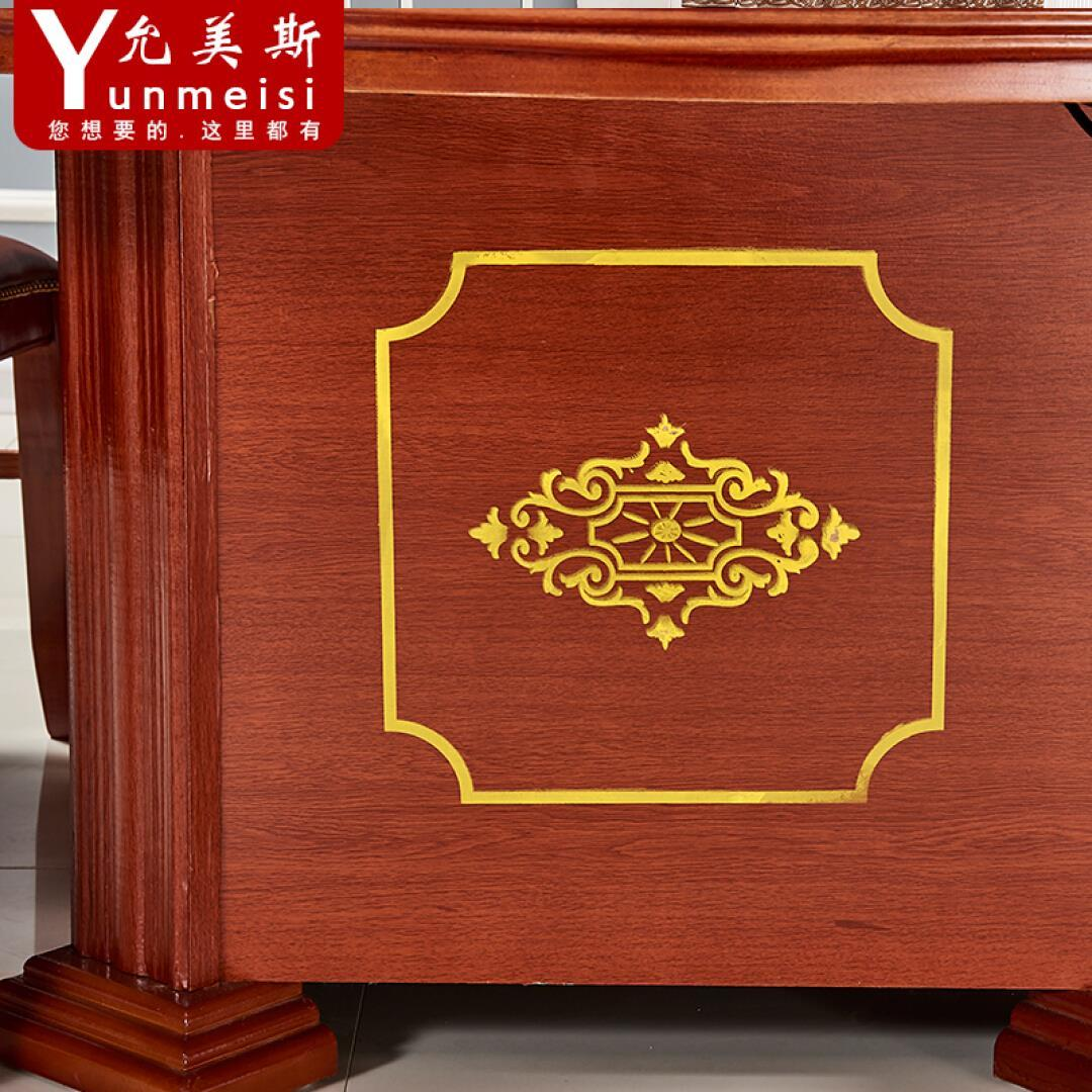 Custom made solid wood belt induction cooker, hot pot table, hotel large banquet, round table and chair combination of large table 10 people