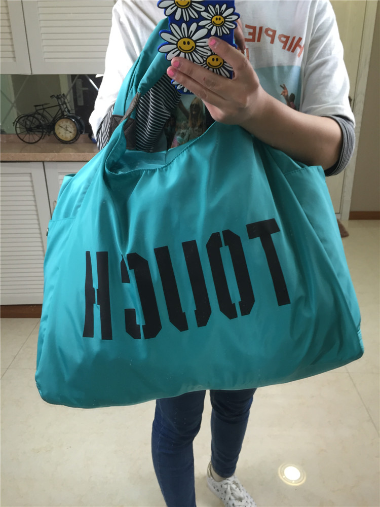 letters korean version of the single shoulder nylon leisure bag large - capacity cloth handbags shopping bags square dance travel bags