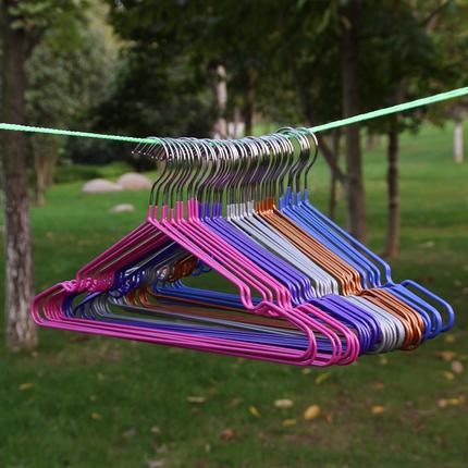 防滑浸塑衣架带凹槽晒衣架10个装