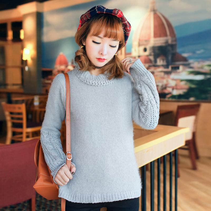 毛衣韩版短款打底外套女装上衣套头针织秋冬冬